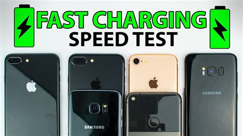 iphone 8 vs s8 vs iphone 7 vs s7 vs pixel xl fast charging speed test
