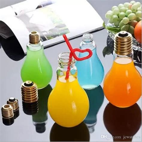 light bulb tea light bulb shape tea fruit juice drink water bottle cup
