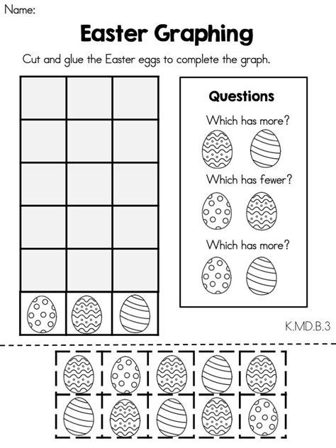 easter math worksheets kindergarten early childhood