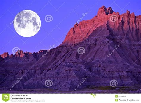 moon in the badlands stock photo image of pinnacles