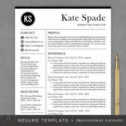 Professional Resume Design Templates by Professional Resume Template Cv Template Mac Or Pc For