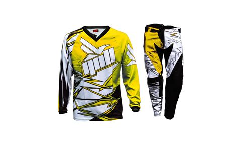motocross combo gear gull 17 5 yellow motocross gear combo gull mx