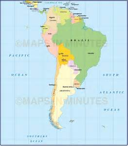 south america map with capitals digital vector south american countries map in illustrator