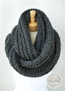 Infinity Scarfs For Crochet Infinity Scarf In Charcoal Gray By