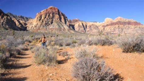 rugged trails rugged mountain hike stock footage 2999434