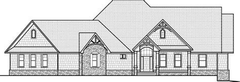 drawing of a house with garage house plan clipart 29