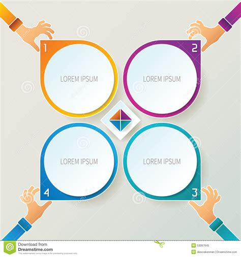 Style Graphic 4 abstract vector 4 steps infographic template in 3d style