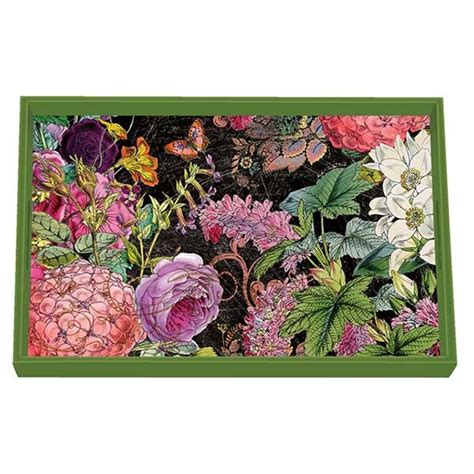 Michel Design Works Decoupage Tray - michel design works botanical garden vanity decoupage