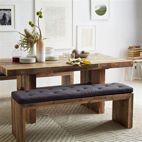emmerson dining bench emmerson reclaimed wood bench remodelista