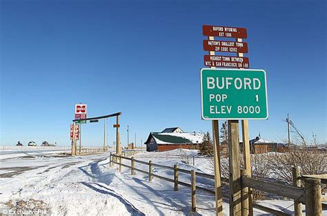 america s smallest town buford in wyoming goes the hammer daily mail