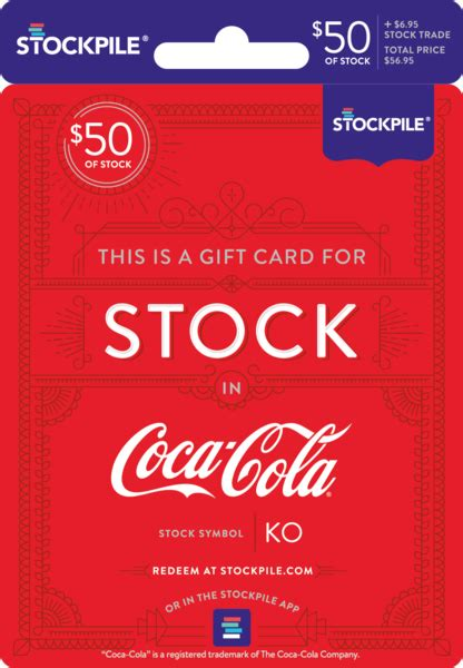 Coca Cola Gift Card - stockpile gift cards for stock stockpile gifts
