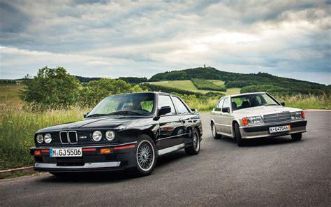 mercedes or bmw mercedes 190e 2 3 16 vs e30 bmw m3 motor trend classic