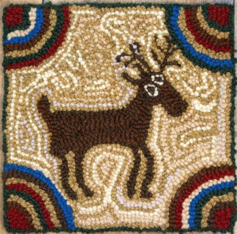 Rug Hooking Yarn by Maine Moose New Rug Hooking Kit Halcyon Yarn