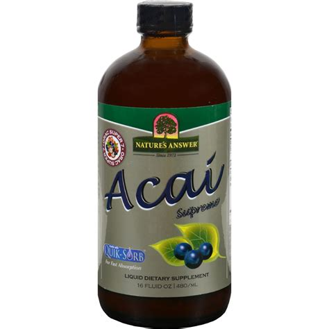 acai berry supreme nature s answer acai supreme 16 fl oz sageinnov