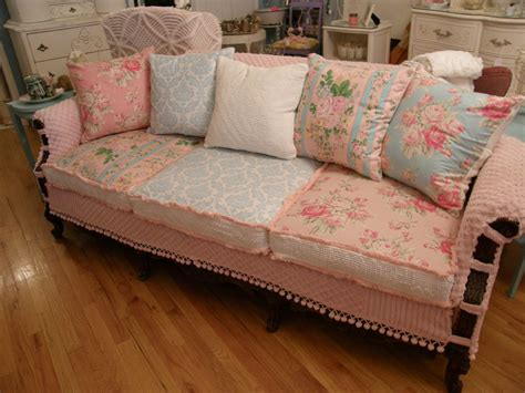 shabby chic sofa shabby chic slipcovers living room eclectic with basket