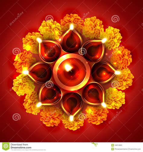 diwali decorating at home raw ayurveda beautiful diwali diya on background stock vector image