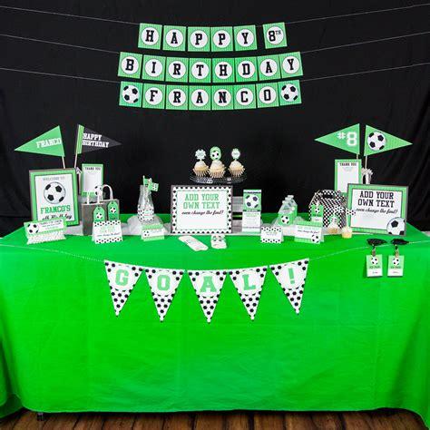 printable soccer birthday decorations printable soccer birthday party decorations