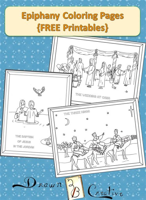 Wedding At Cana Activity Sheets by Epiphany Coloring Pages Drawn2bcreative