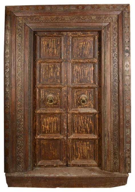 Salvage Interior Doors Salvage Teak Wood Door Frame Traditional Interior Doors By Living