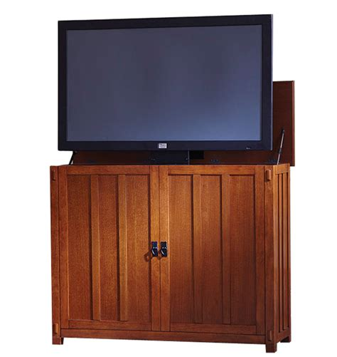 elevate mission tv lift cabinet for flat screen tvs up to 42 quot