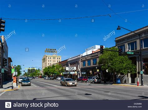 main street in downtown bozeman looking towards the hotel