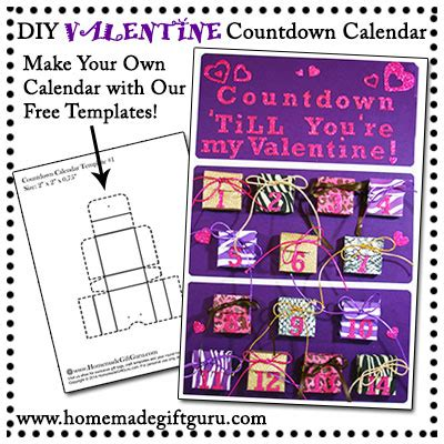 make your own countdown calendar gifts