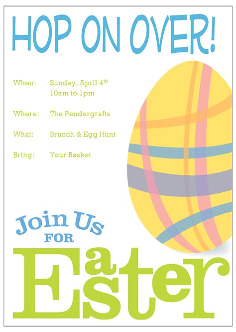 easter invitation templates