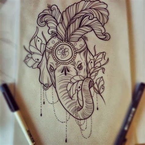 hindu elephant tattoo designs indian elephant tattoos on elephant