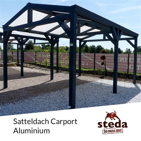 steda carport carport satteldach aluminium alle ma 223 e steda ebay