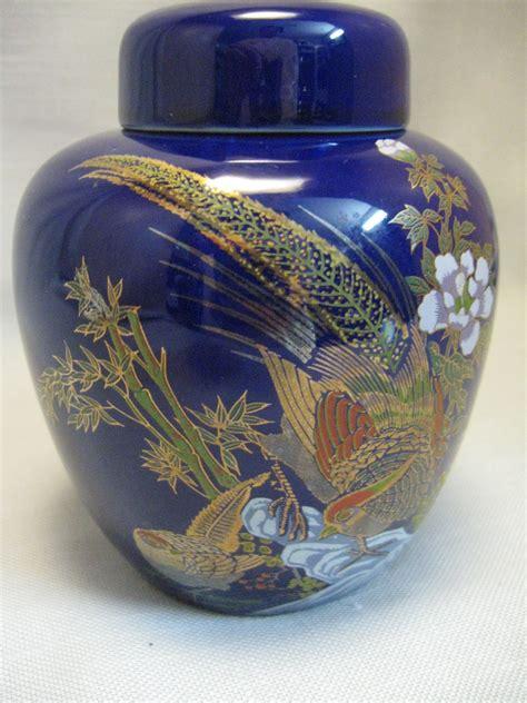 blue ginger jars oriental design cobalt blue ginger jar pleasant flowers