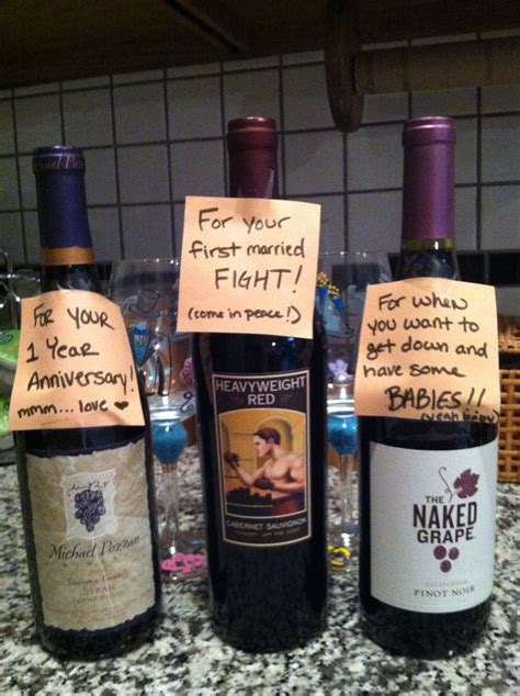 Bridal Shower Gift   find wines with appropriate names for