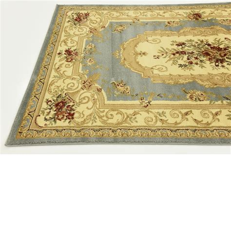 blue aubusson rug traditional rugs area carpet 5 x 8 light blue classic aubusson rug