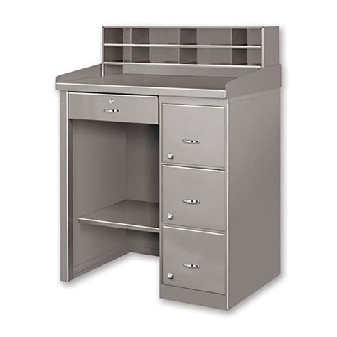 cl on desk shelf pucel fcd 2839 cl shop desk metal cabinet store