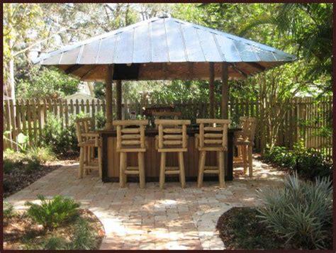 How To Build A Tiki Hut Roof by Tiki Hut Bar Tin Roof Cool Ideas Tiki