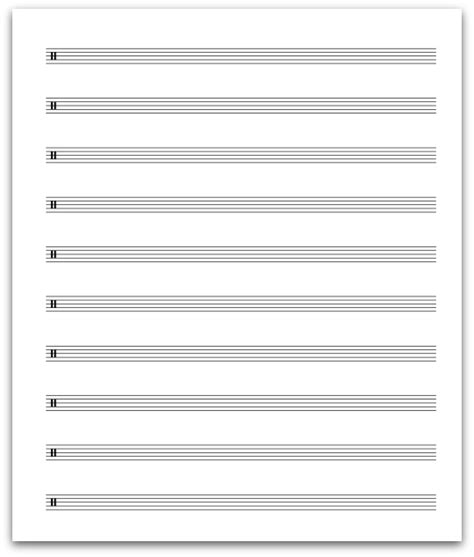 printable percussion staff paper 7mm percussion clef all about music theory com