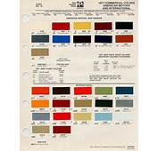 Auto Paint Codes  1977 AMC Chips Guestbook