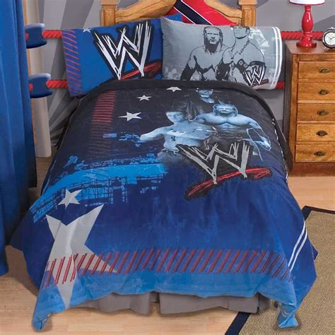 wwe comforter set wwe wrestling ringside full bedding set triple h