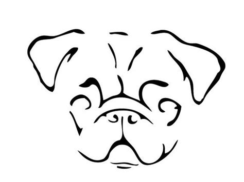 pug line drawing pug line drawing breeds picture