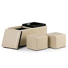 simpli home avalon 5 storage ottoman simpli home avalon 5 storage ottoman bed bath beyond