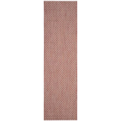 safavieh cy5139a courtyard indoor outdoor area rug rust lowe s canada safavieh courtyard rust light gray 2 ft 3 in x 8 ft indoor outdoor runner cy8653 36521 28