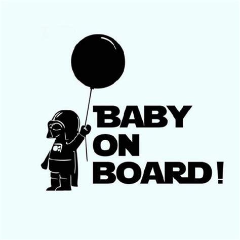Autoaufkleber Baby Star Wars by Autodekoration Star Wars Baby An Bord Reflektierende Auto