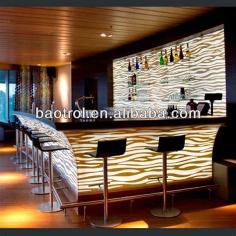 Bar Counter Materials Fashion Design Solid Surface Material Nightclub Bar