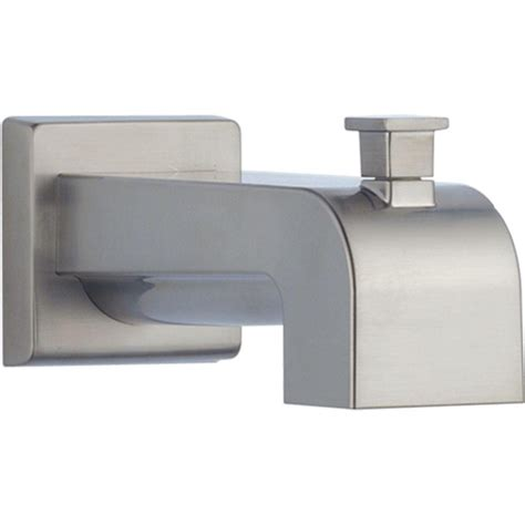 bathtub spout diverter delta arzo and vero 7 1 8 in pull up diverter tub spout