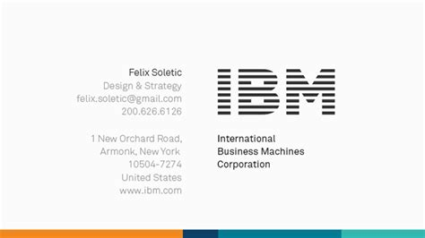 ibm business card template ibm business card felix soletic official portfolio ibm