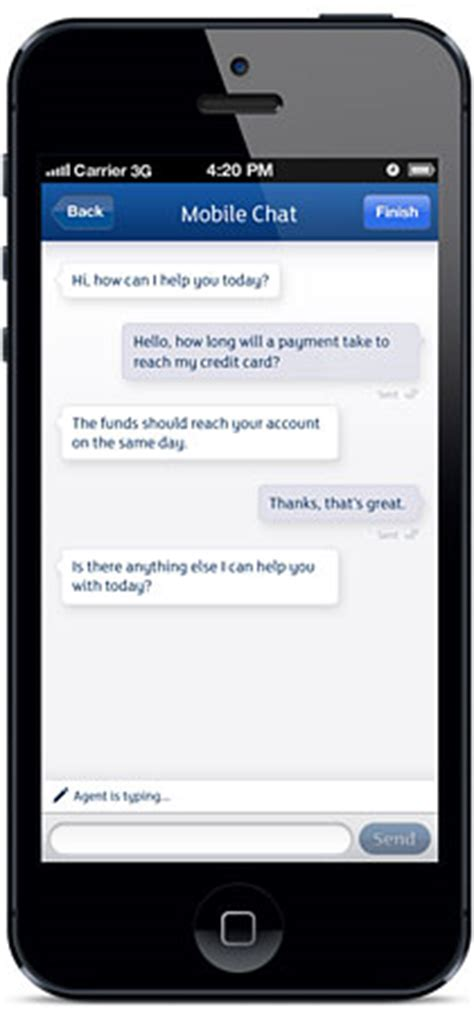 mobile chat banks roll out customer service app with live mobile chat