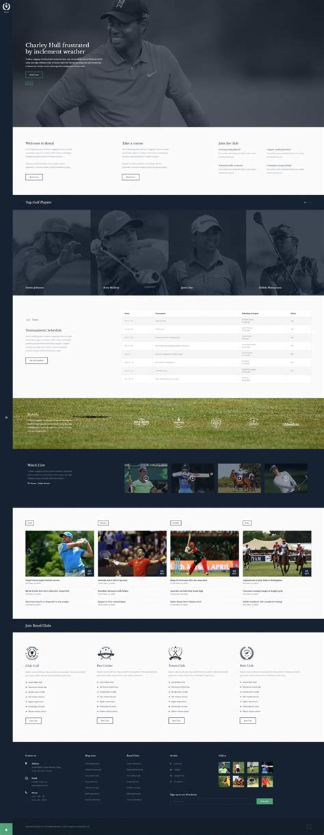 royal joomla sports club template