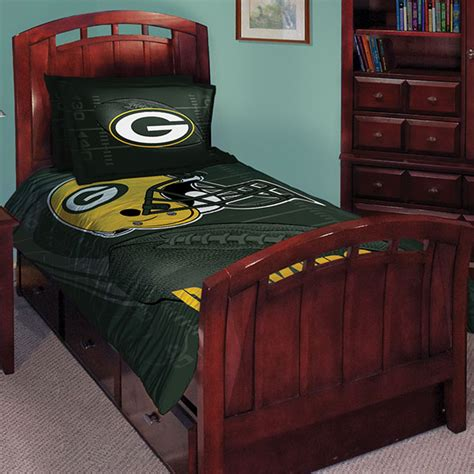 green bay packers nfl twin comforter set 63 quot x 86 quot