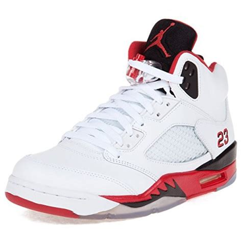 mens air retro 5 basketball shoes nike mens air 5 retro quot black tongue quot white