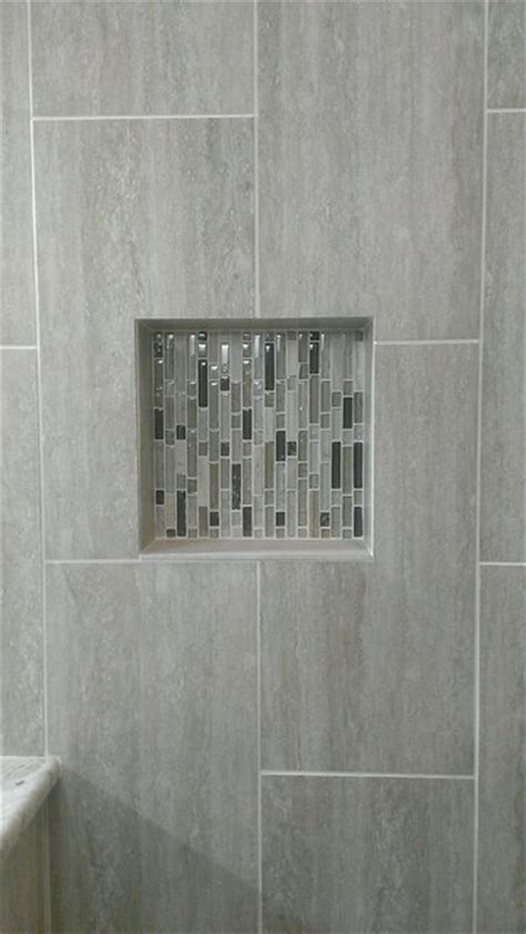 "MASTER BATHROOM   Complete remodel 12"" x 24"" Vertical Tile"