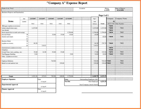 personal expense report template 8 business travel expense report template progress report